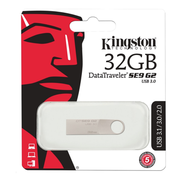 USB STICK 3.0 KINGSTON 16GB DATATRAVELER SE9 G2 ΜΕΤΑΛΙΚΟ