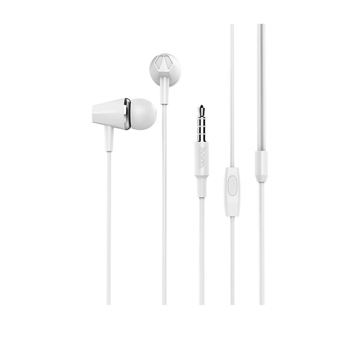 HOCO - M34 STEREO WIRED EARPHONES HANDS FREE WHITE