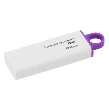 USB STICK 3.0 KINGSTON 64GB DATATRAVELER G4 ΑΣΠΡΟ-ΜΟΒ