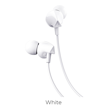 HOCO - M60 STEREO WIRED EARPHONES HANDS FREE WHITE