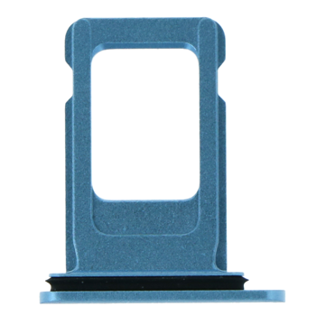 APPLE iPhone XR- SIM Card Tray with waterproof rubber ring Blue Original
