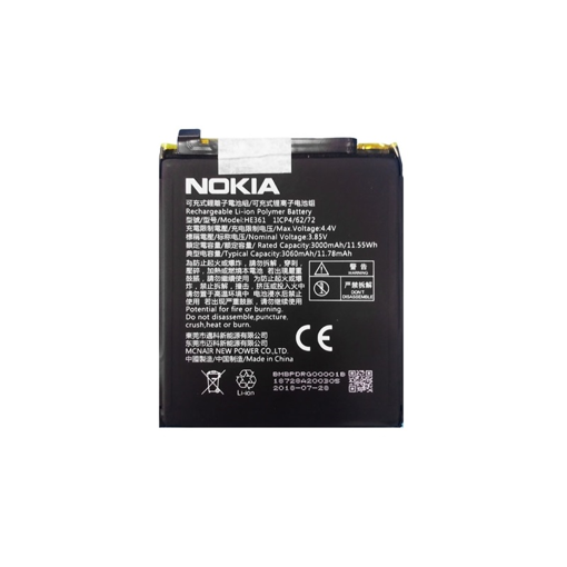 NOKIA 6.1 Plus / 5.1 Plus / 7.1 - ORIGINAL BATTERY HE345 3060mAh LI-IOΝ BULK