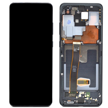 SAMSUNG SM-G988F Galaxy S20 Ultra - LCD - Complete front LCD + Touch Black Original