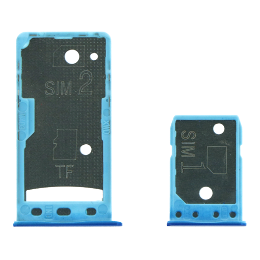 XIAOMI Redmi GO - SIM & SD Card Tray Blue Original