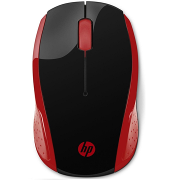 HP Wireless Mouse 200 Silver Red