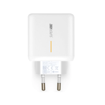 OPPO - SUPERVOOC TRAVEL CHARGER SINGLE USB 65W WHITE