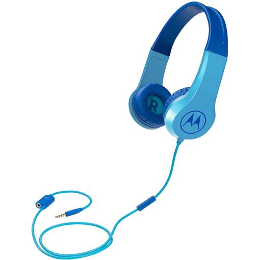 MOTOROLA - SQUADS 200 WIRED HEADPHONES BLUE