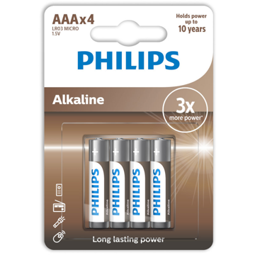 PHILIPS LR03 AAA, ULTRA ΑΛΚΑΛΙΚΗ ΜΠΑΤΑΡΙΑ  Blister 4 τεμ