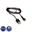 OSIO - DATA CABLE microUSB 1,2m BLACK