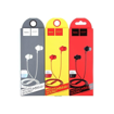 HOCO - M14 INITIAL SOUND STEREO WIRED EARPHONES HANDS FREE RED