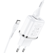 HOCO - N4 TRAVEL CHARGER DUAL USB 5V/2,4A SET TYPE C WHITE