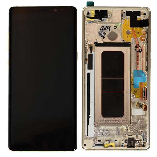 SAMSUNG N950F Galaxy Note 8 - LCD - Complete front + Touch Gold Original