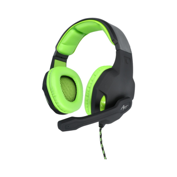 ART - Lizard Gaming microphone headphones Black / Green