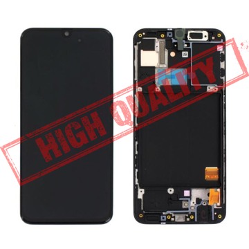 SAMSUNG A315F Galaxy A31 - LCD - Complete front + Touch Black Copy