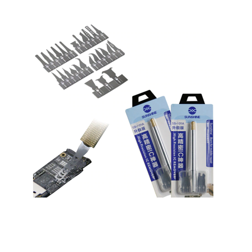 SUNSHINE SS-101A Repairs Disassemble IC CHIP Knife 27 Blade + Handle for IPhone x 8 7 Motherboard Warping Knife Glue