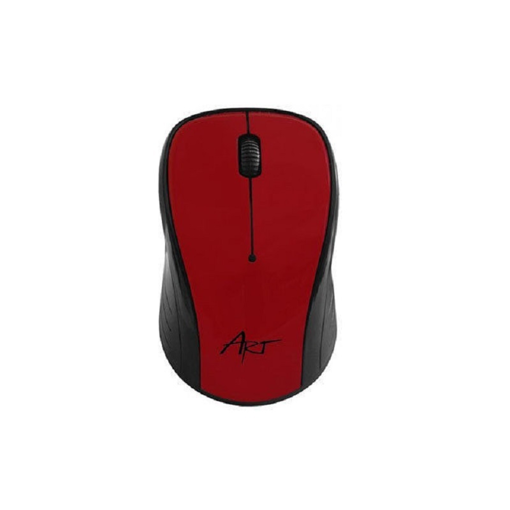 ART AM-92 Optical Wireless Mouse RED