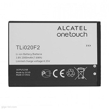 ALCATEL 7040T Fierce 2 / A564C Pop Icon - ORIGINAL BATTERY 2000mAh LI-ION, (=TLi020F2) BULK