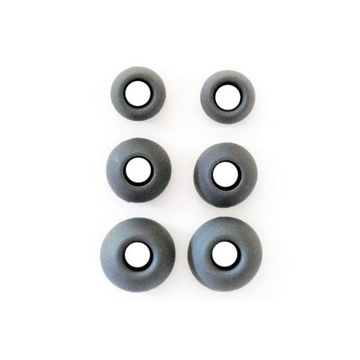 Rubbers for Earphones (3 Size in Set) Black