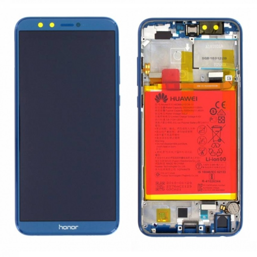 HUAWEI Honor 9 Lite - LCD + Touch + Frame + Battery Blue Original Service Pack