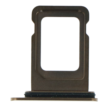 APPLE iPhone 11 Pro Max - SIM Card Tray With Waterproof Ring Rubber Gold Original