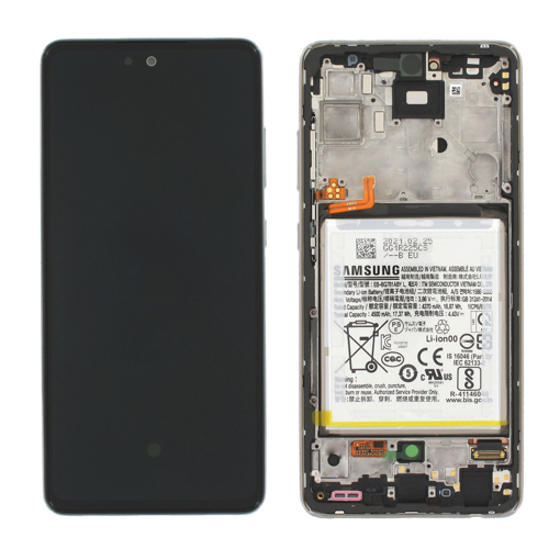 SAMSUNG A525F Galaxy A52 / A52 5G - LCD - Complete front + Touch + Battery White Original