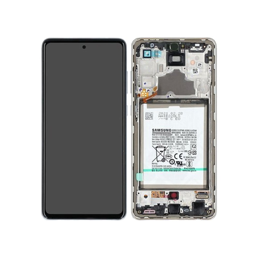 SAMSUNG A725F Galaxy A72 - LCD - Complete front + Touch + Battery White Original