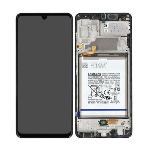 SAMSUNG A325F Galaxy A32 LTE - LCD - Complete front + Touch + Battery Black Original