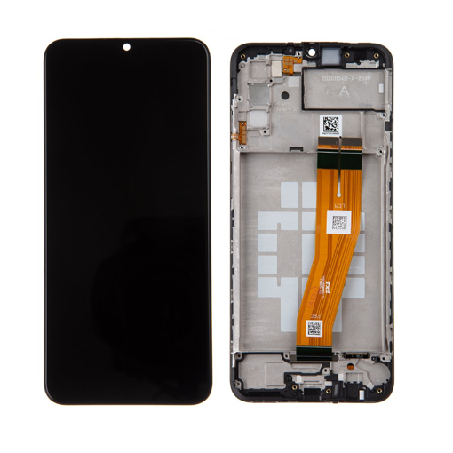 SAMSUNG A025F Galaxy A02s - LCD - Complete front + Touch Black Original Service Pack