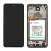 SAMSUNG A725F Galaxy A72 - LCD - Complete front + Touch + Battery Awesome Black Original