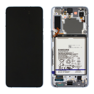 SAMSUNG G996B Galaxy S21 Plus - LCD - Complete front + Touch + Battery Phantom Silver Original