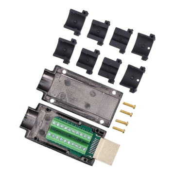 HDMI 2.0(Male) Solder-Free Plug with 4 Kinds Size Tail Cove