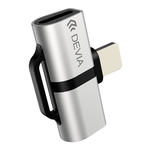 DEVIA Smart series Adapter Type-c to type-c + DC3.5 (metal) Silver