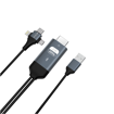 DEVIA Storm series 3 in 1 HDMI Cable Black (HDMI to Type-C/Micro/Lightning)