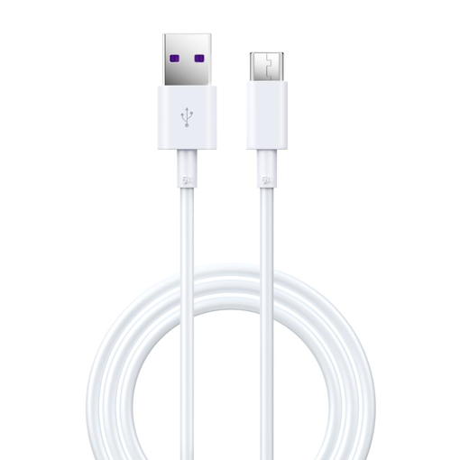 DEVIA Shark series supercharge USB to TYPE-C Cable full compatible White (5A,1.5M)