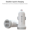 DEVIA Idrawer series smart car charger set with Type-C cable White (5V3.1A,2USB) (8PCS/Set)