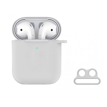 DEVIA Naked Silicone Case Suit for AirPods (with loophole) White