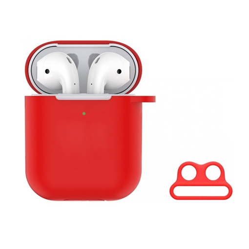 DEVIA Naked Silicone Case Suit for AirPods (with loophole) Red