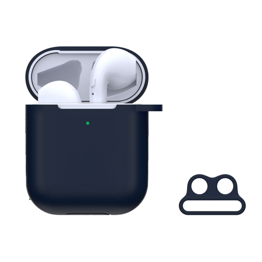 DEVIA Naked Silicone Case Suit for AirPods (with loophole) Blue