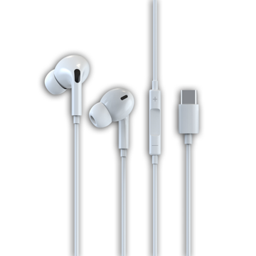 DEVIA Smart series stereo wired earphone (Type-C) HANDS FREE White