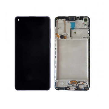 SAMSUNG A225F Galaxy A22 4G - LCD - Complete front + Touch Black Original