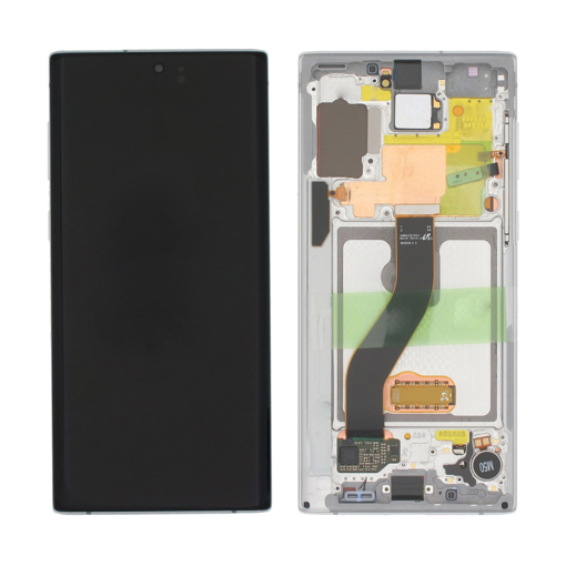 SAMSUNG N970F Galaxy Note 10 - LCD - Complete front + Touch White Original