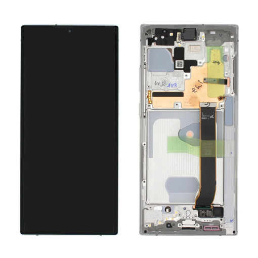 SAMSUNG N986B Galaxy Note 20 Ultra 5G - LCD - Complete front + Touch White Original Service Pack