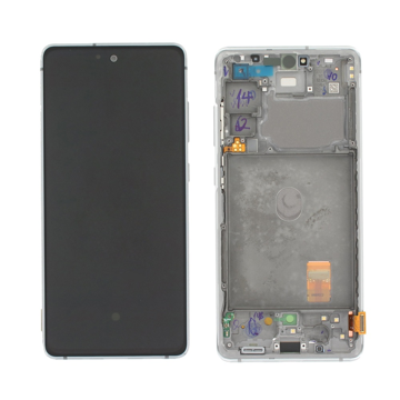 SAMSUNG G781F Galaxy S20 FE 5G - LCD - Complete front LCD + Touch Cloud White Original Service Pack