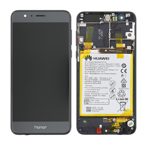 HUAWEI Honor 8 - LCD + Touch + Frame + Battery Black Original Service Pack