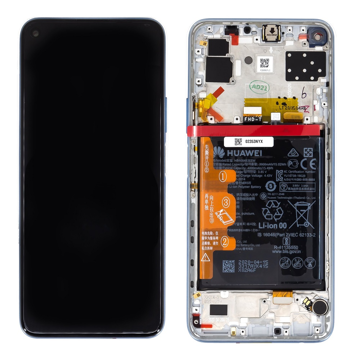 HUAWEI P40 Lite 5G - LCD + Touch + Frame + Battery Silver Original Service Pack