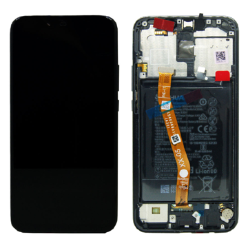 HUAWEI Mate 20 Lite - LCD + Touch + Frame+ Battery Black Original Service Pack