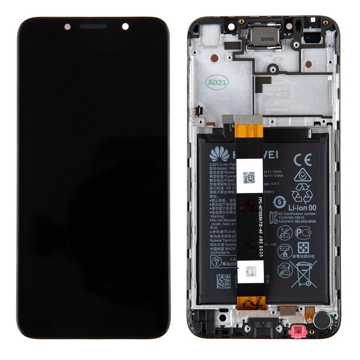 HUAWEI Y5p - LCD + Touch + Frame+ Battery Black Original Service Pack